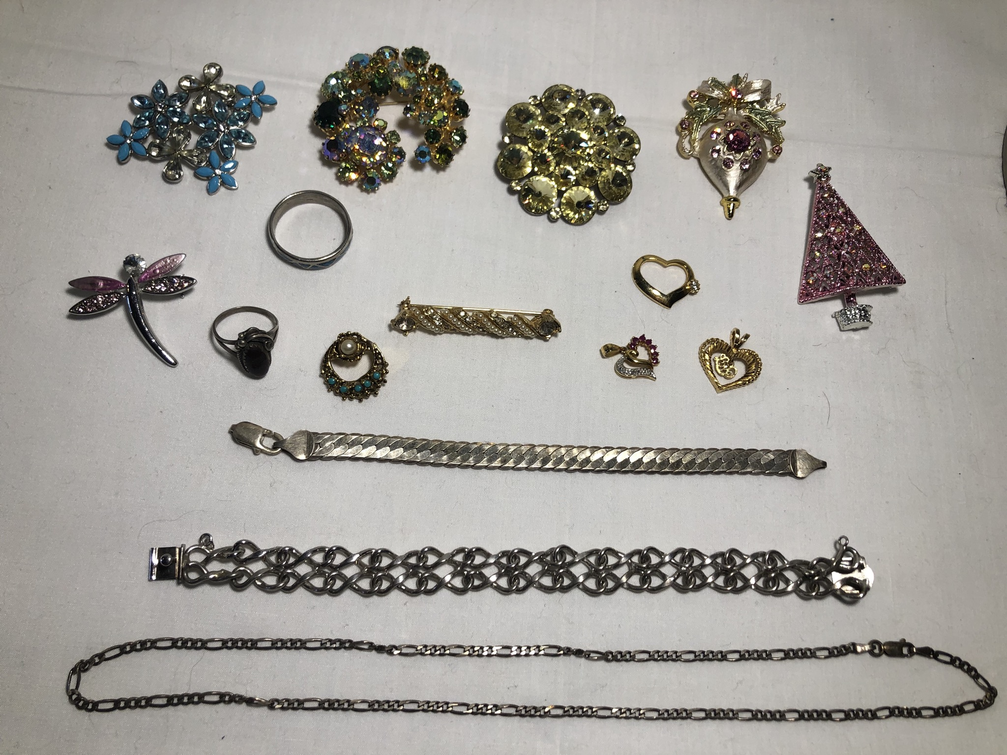 Lot of Vintage Costume Jewelry, Weiss, Napier, Karo & More