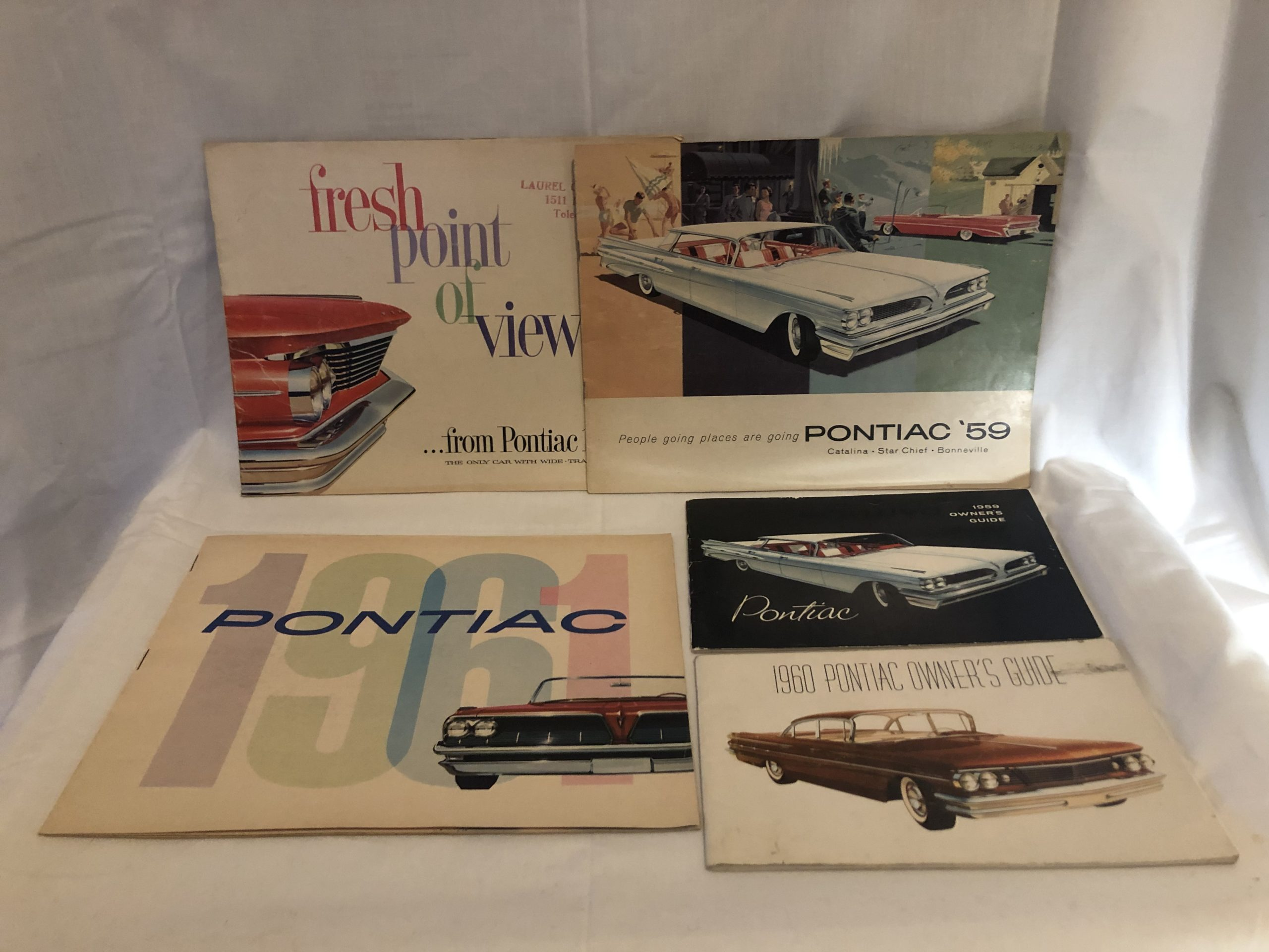 Lot of 1959-1961 Vintage Pontiac Car Owner Manuals & Advertising Brochures